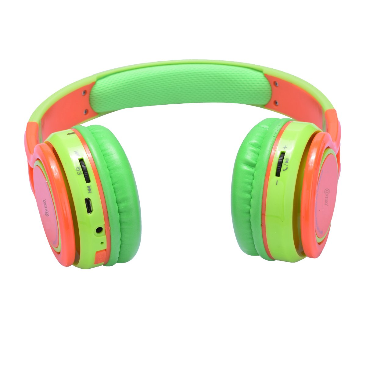 ... Wireless Bluetooth Headphone Built-in Microphone, Micro SD Card Music Player, FM Stereo Radio (Green w/Orange) - Best Gift: Home Audio & Theater
