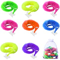 ONESING 19 Pcs Magic Worms Toys Wiggly Worms Twisty Fuzzy Worm Toys for Carnival Kid Party Favors