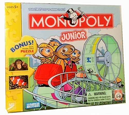 Monopoly Junior with Bonus 50pc Double-sided Puzzle