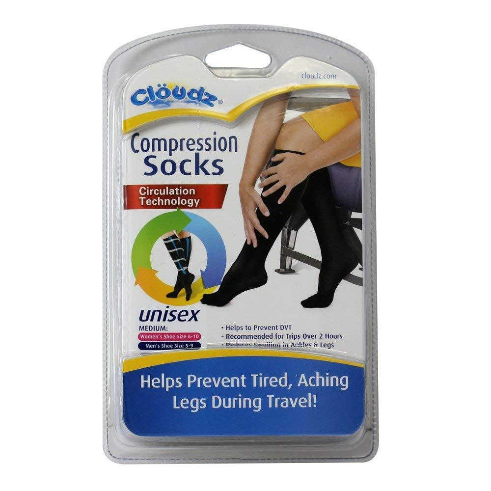 41341e4b9a Amazon.com: Cloudz - Compression Flight Socks - Medium (Unisex) - (Men's  Shoe Size 5-9, Women's Shoe Size 6-10): Sports & Outdoors