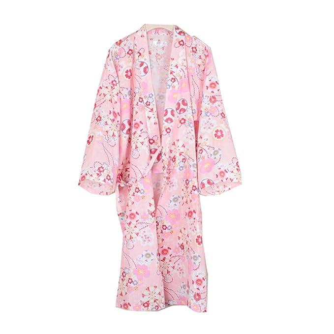 Fancy Pumpkin Bata de baño Elegante Japonesa para Mujer Kimono Pajamas Camisón [Talla L,