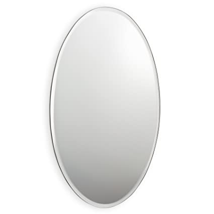 Abbott Collection Parlour Oval Beveled Mirror Large