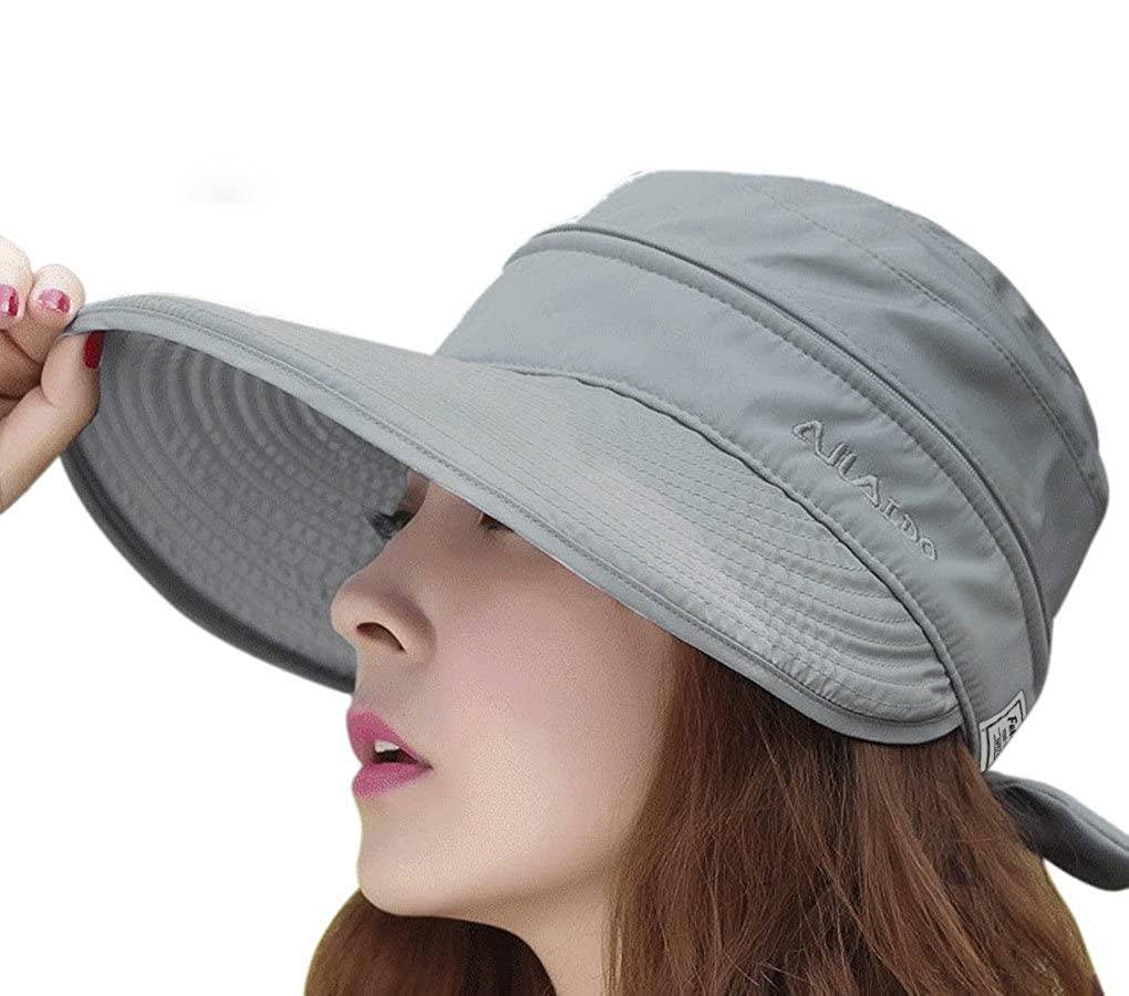 2-in-1 Large Brim Visor Sun Hat Convertible Beach Cap Anti-UV Golf Tennis  Sun Bonnet for Summer  Amazon.co.uk  Clothing e9ee612290a