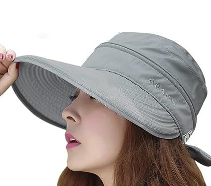 VZD SHOP Womens Ladies Wide Brim Summer Folding Anti-UV Golf Tennis Sun  Visor Cap 3b904a2faf8