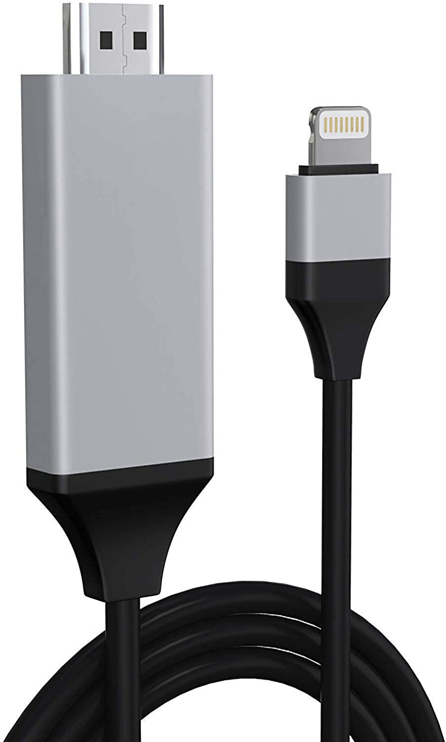 Apple MFi Certified Lightning to HDMI Cable Adapter for iPhone, 2K Digital AV Adapter HDTV Cable Connector Compatible with iPhone/iPad to TV Projector Monitor - No Need Power Supply (6.6ft Black)