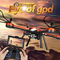 Annong JJRC H11D RC Quadcopter with Camera 2.4G 4CH 6Axis Gyro RC Drone 5.8G FPV 2.0MP HD Camera RTF Headless Mode RC Explorer Quad Copter with 3pcs 3.7V 1100mAh Batteries