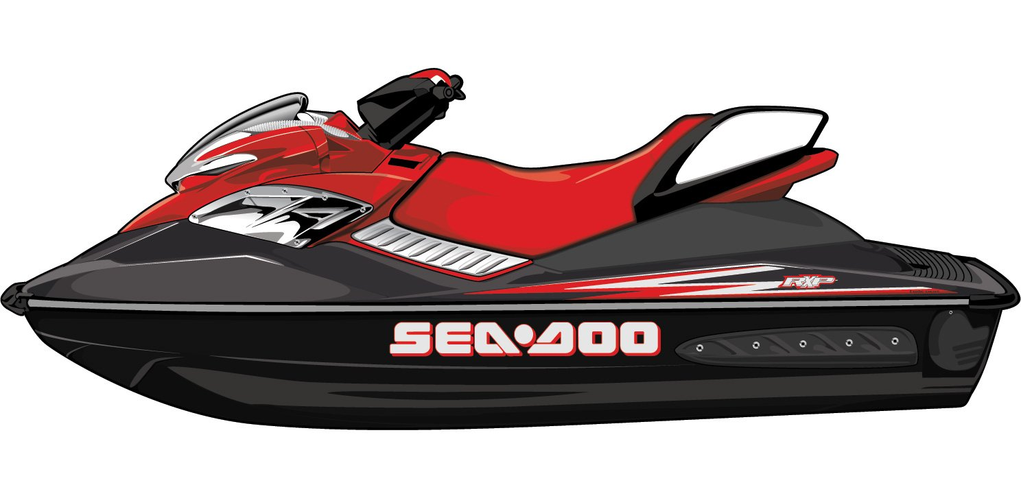 Exotic Signs SeaDoo RXP 2 Color Graphic Kit - ES0024RXP (010 White / 031 Red)