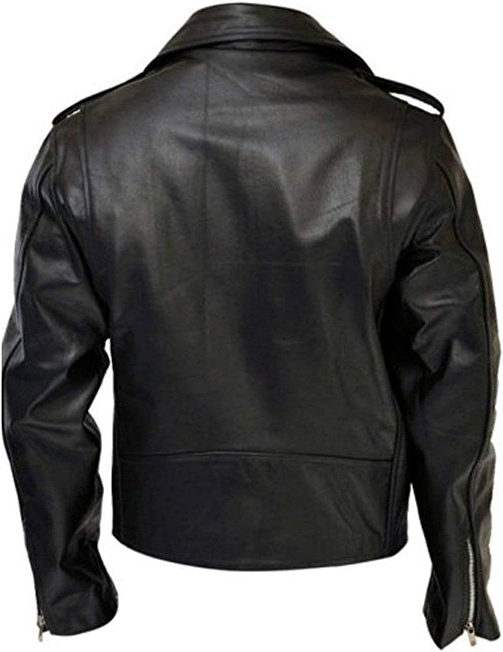 Arnold Schwarzenegger Terminator 2 Judgment Day Fantasy Real Leather Jacket