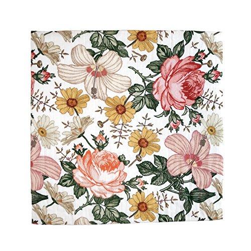Garden Floral Swaddle - Mini Scout Soft Muslin Nursery Newborn Baby Girl Blanket Registry Essentials (Baby Bedding Garden)