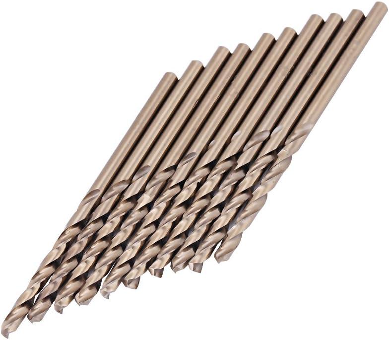 1.5mm 1,0-5,0mm Spiralbohrer Jobber Bohrer Set HSS Hochgeschwindigkeitsstahl M35 Cobalt Split Punkt mit Rundschaft f/ür Edelstahl Federstahl und Andere Hohe H/ärte Stahl 10 Gr/ö/ßen Optional