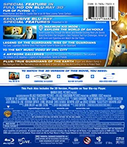 Legend of the Guardians-Owls of Ga'hoole (Two-Disc Blu-ray 3D / Blu-ray Combo) from WarnerBrothers