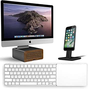 Amazon Com Twelve South Bundle With Magicbridge For Wireless Keyboard And Trackpad For Apple Hirise Pro Display Stand For Imac Gunmetal Hirise 2 Deluxe Space Gray Computers Accessories