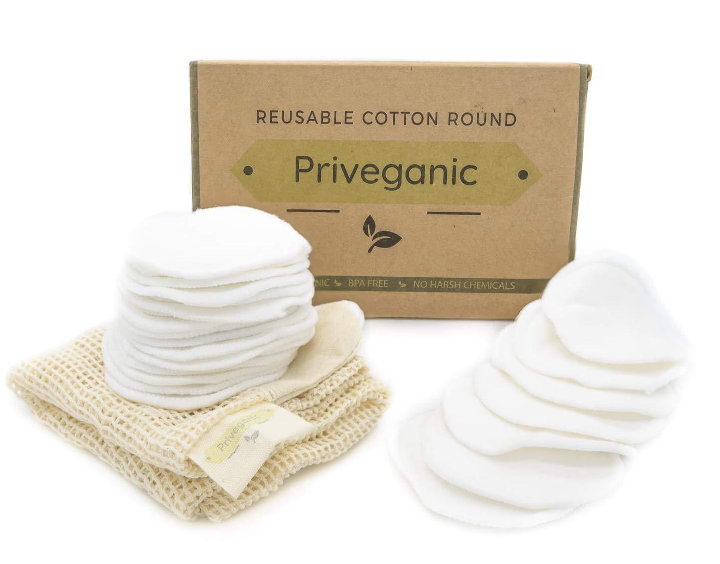 Reusable Cotton Round makeup removing pads 24 pads per box Premium 100% organic cotton rounds