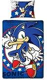 Character World 135 x 200 cm Sonic the Hedgehog Sprint Single Panel Duvet Set, Multi-Colour