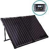 Renogy 100 Watt 12 Volt Monocrystalline Foldable Solar Suitcase w/ Voyager Waterproof Charge Controller (RNG-KIT-STCS-100D-VOY20)