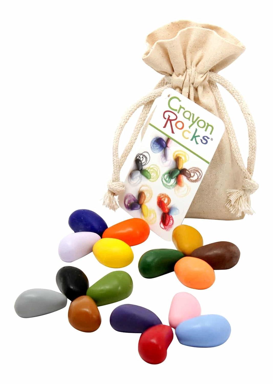 Crayon Rocks Sixteen Colors (In a Cotton Muslin Bag) CRA16MUS