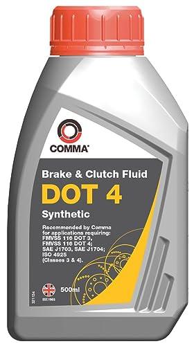 Comma BF4500M 500ml Dot 4 Synthetic Brake Fluid