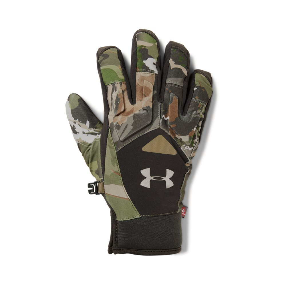 Under Armour Women's Primer Gloves, Ridge Reaper Camo Forest (943)/Metallic Beige, Small