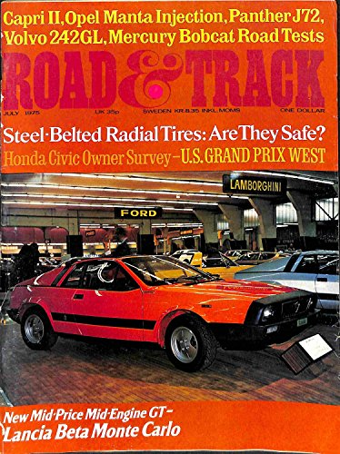 Road and Track Magazine (July 1975) (Lancia Beta cover) (Vol. 26; #11) (26) ()