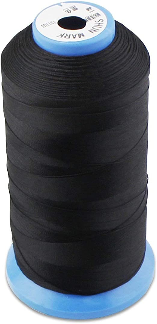 Pinacis Hilo de Coser de Nylon adherido Fuerte for máquina de Coser Tapicería Cosida a Mano Mercado al Aire Libre Cortinas Rebordear Bolsos de Equipaje Materiales de Costura (Color : Negro): Amazon.es: