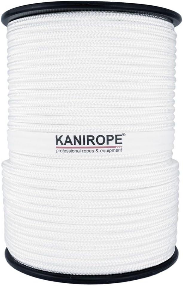Kanirope/® Polyesterseil Seil Polyester POLYBRAID 12mm 100m Wei/ß geflochten