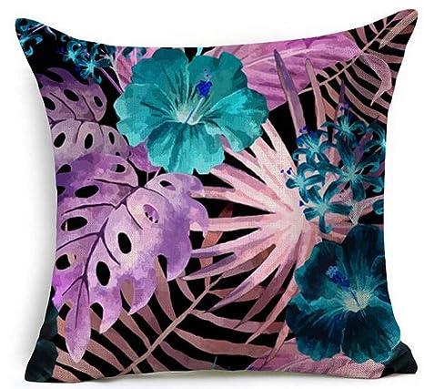 yting Pintado a Mano Flores Tropicales y pájaros Follaje ...