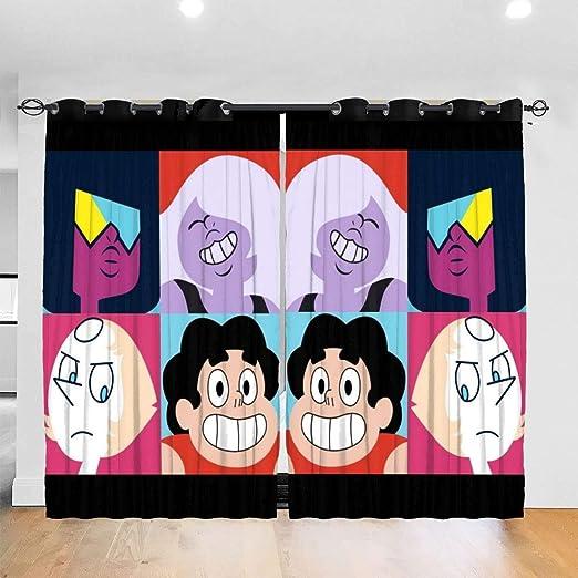 Blackout Window Curtains Darkening Bath Drape for Curtain Rod Track Universe