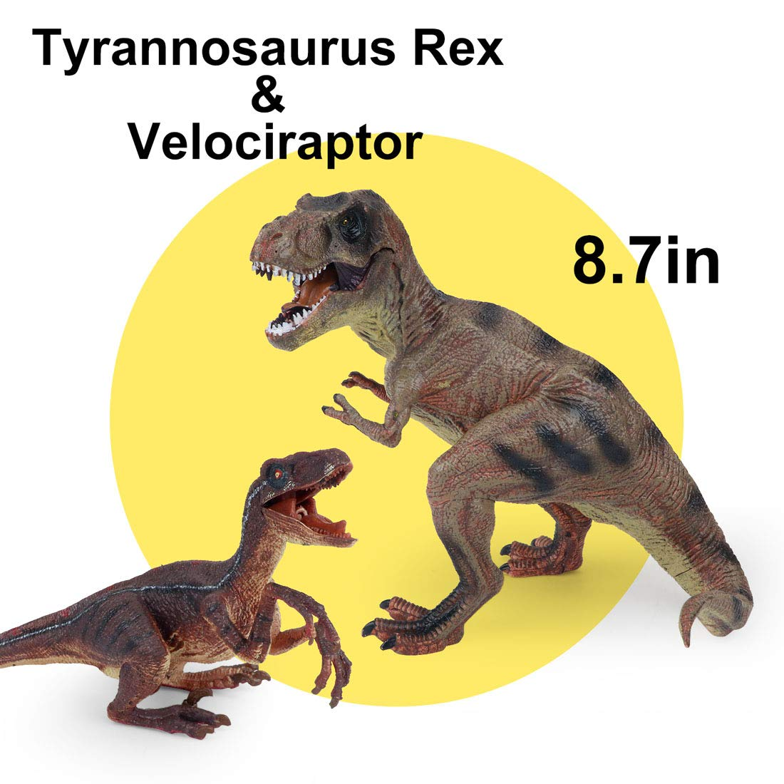Winsenpro 5PCS Jumbo Dinosaur Set,13? Realistic Looking Dinosaur Toy Set for Party Gift,Boys Girls Children's Birthday Gifts (5PCS Dinosaurs)