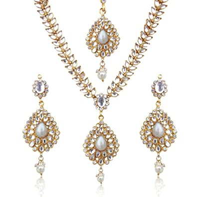 0a703e260757e Indian necklace kundan jewellery Indian jewellery sets for women