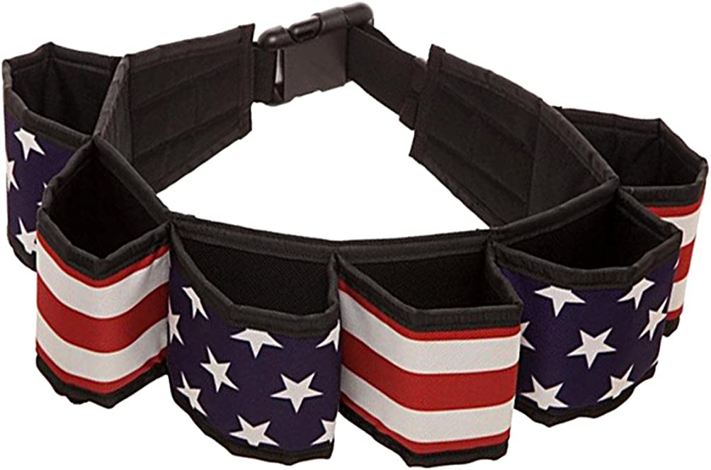 USA Flag Americana Beverage Utility Six Pack Belt