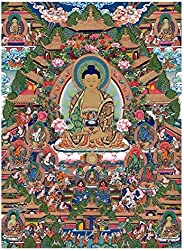LCMUS Thangka Decorative Painting Home Bedroom Spray Painting Posters Pictures Tibetan Tibetan Thangka Canvas