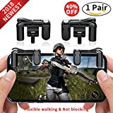 Cheap Mobile Game Controller Cell Phone Game Fire Button Aim Key Game Joystick Smart Phone PUBG Knives Out Rules of Survival Gaming Shooter Trigger L1R1 for Android IOS(1 Pair)