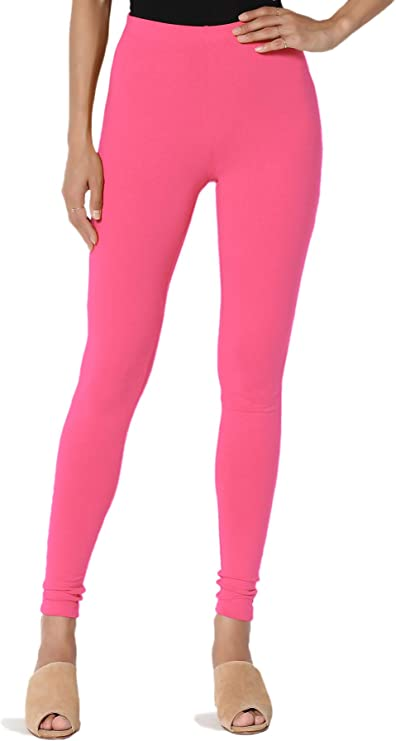 TheMogan S~3X Buttery Soft Microfiber High Waist Full Length Ankle Leggings