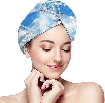 Serviette pour sécher les cheveux pratique microfibre  salle de bain douche
