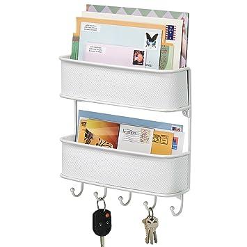 mDesign Schlüsselbrett mit Ablage – vielseitiges Schlüsselboard aus ...