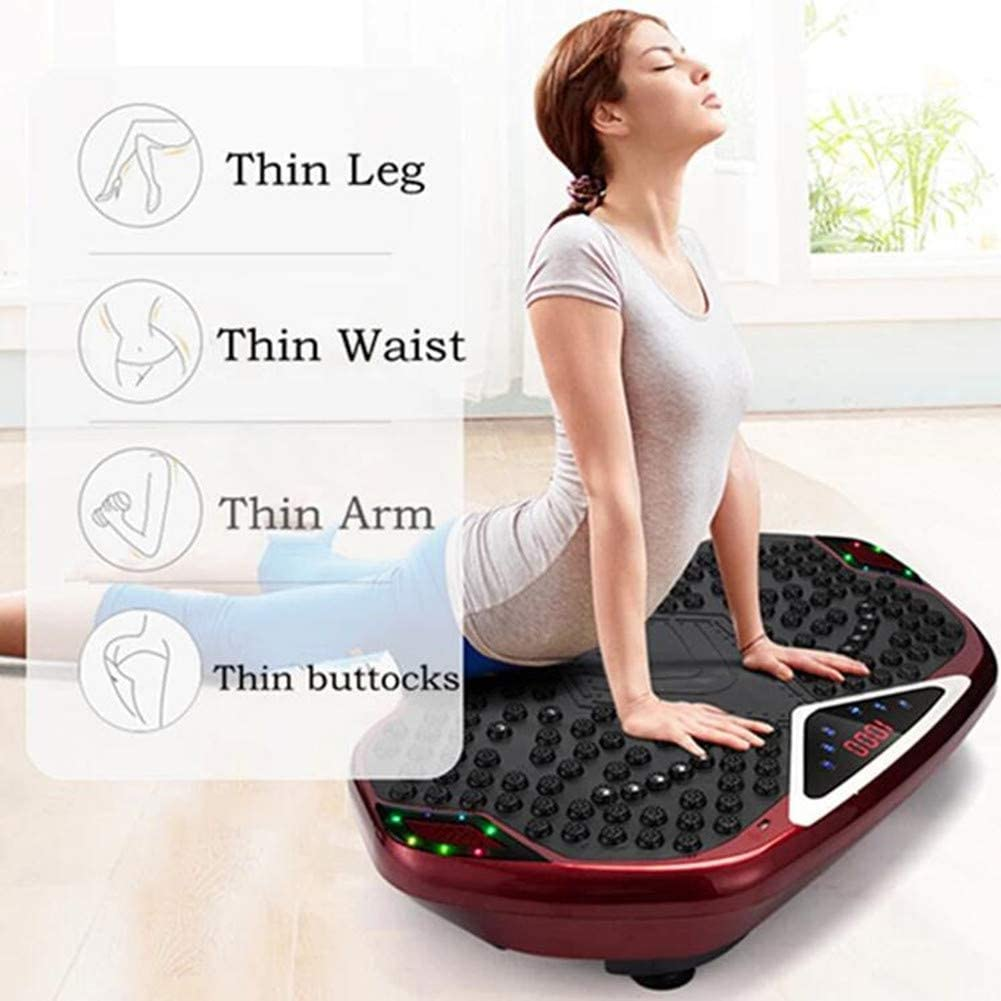 Fitness Vibration Plate LCD Display Bluetooth Connection Remote Control Low Noise Slimming Machine Fat Burning Fitness Machine Massager kyman