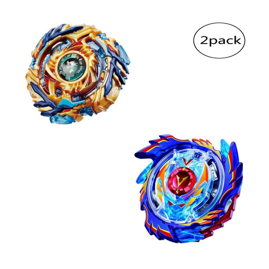 WenJie [2 Pack] Beyblade Burst - Personally Assemble to Improve Your Child's Manual Ability - Stamina Type - 2 X Combat Combination ( 2 Beyblade + 2 Launcher ) - b73+b79