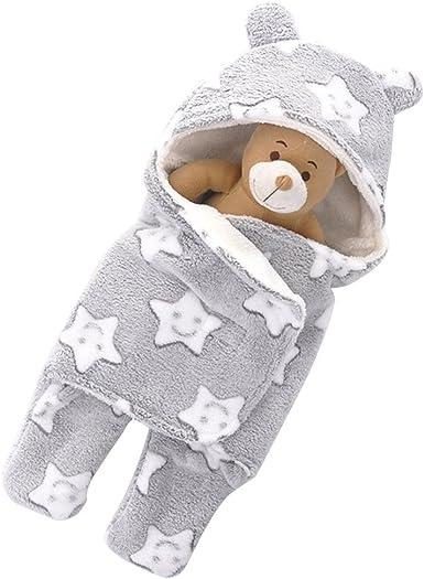 Odziezet Saco de Dormir Bebé Invierno Manta Unisex Fotografía Envolvente Algodón Cochecito Estampado Recien Nacido Arrullo Swaddle: Amazon.es: Ropa y accesorios