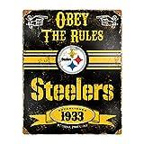 Party Animal NFL Embossed Metal Vintage Pittsburgh Steelers Sign Review