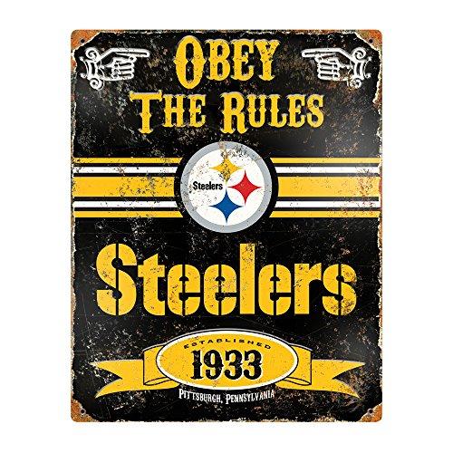 Party Animal NFL Embossed Metal Vintage Pittsburgh Steelers -