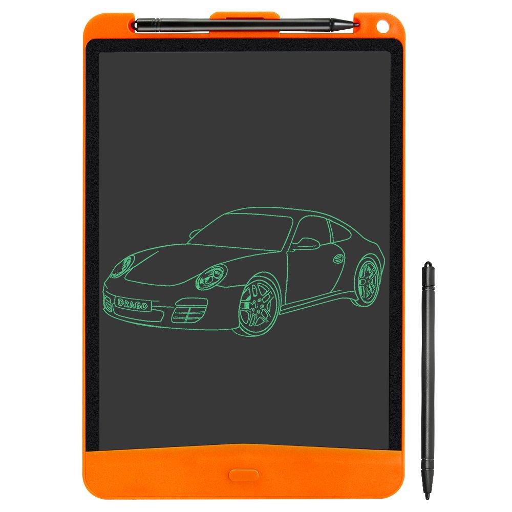 QCY Tablet de Escritura LCD 10 Inch, Tableta de Dibujo Portátil & Tablero de Mensaje con Stylus y Un Botón Claro para Niños, Diseñadores, Profesores, y Gente de Negocio, Bloqueo de Pantalla Función Happybuy Directory