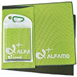 wwww Balhvit Cooling Towel Evaporative Chilly Towel For Yoga Golf Travel- Green/Charcoal-Medium (40x12-Inch)