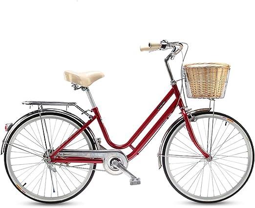 HUIHUAN Bicicleta Cruiser para Mujer, con Cuadro de Acero Paso a ...