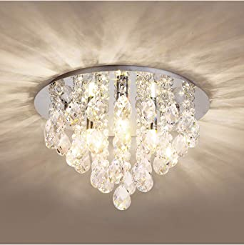 US $248.0 20% OFF|Modern LED Chandelier Lighting High Quality Clear Crystal Lampshade Lights For Dining Room Ceiling Chandeliers Indoor