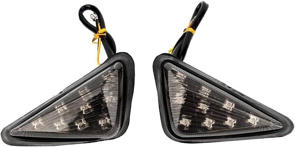 Aramox Indicatori di direzione a LED fum/é da Incasso indicatori Ambra per Moto 12V