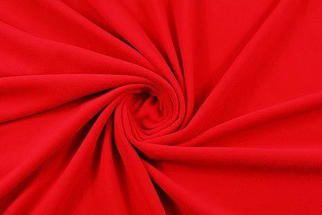 Composizione Tessuto Pile.Tessuto Al Metro Tessuto Pile Rosso H170cm Amazon It Casa