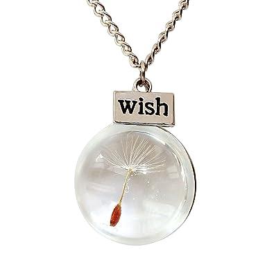 Amazon alovesoul fashion gift dandelion seed wish glass globe alovesoul fashion gift dandelion seed wish glass globe pendant necklaceround 2362 aloadofball Choice Image