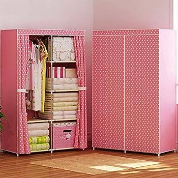 FKUO Wardrobe Closet Portable Non Woven Fabric Free Standing Storage  Organizer Detachable And Lightweight Clothing