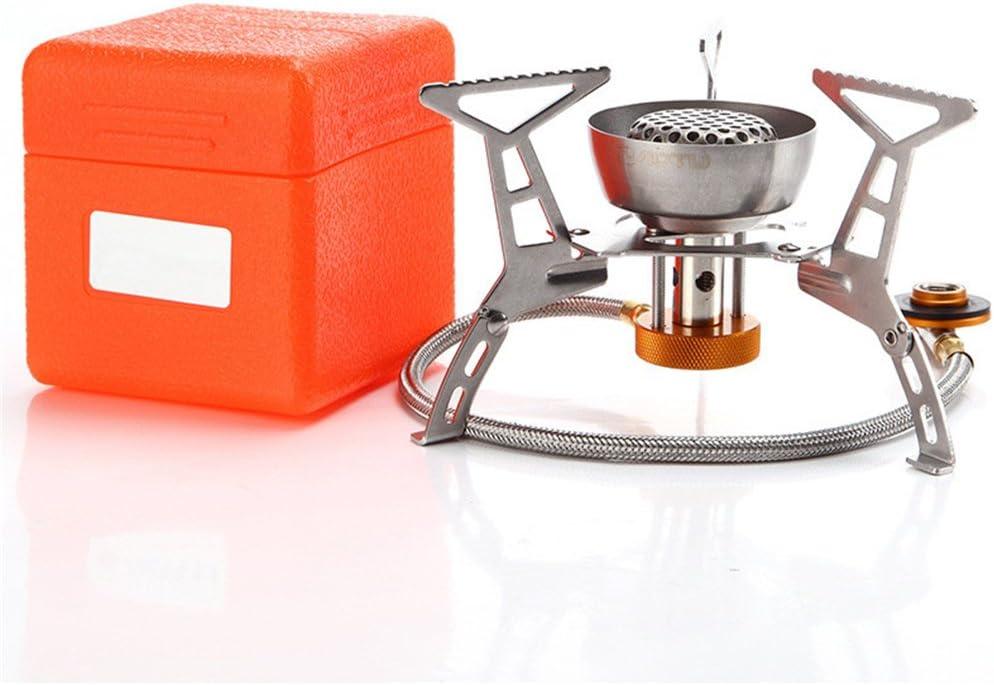 BrilliantDay Hornillo Camping Estufa a Gas Portátil de Camping Estufa de Gas hornillo de Plegable a Prueba de Viento Cocinar Al Aire Libre para Cocina ...