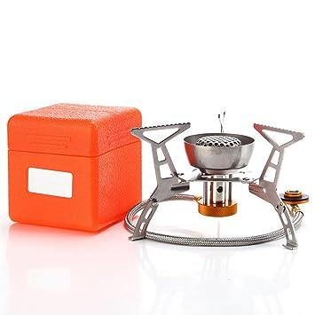 BrilliantDay La Mini Estufa Portable de Acero al Aire Libre para Acampada y Picnic (Sin Encendedor Piezo, 3200W): Amazon.es: Deportes y aire libre